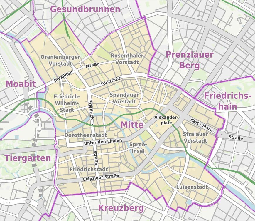 Maps Berlin Mitte