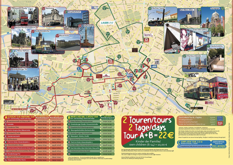 Visite De La Ville Berlin Carte Litineraire